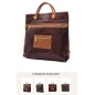 Genuine Brown Leather Messenger Women Handbag
