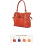 Genuine Leather Braided Design Women Shoulderbag red 3Bebe