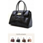 Genuine  Leather Women Handbag in Black 3 Bebe