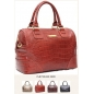 Genuine Leather Vintage Design Women Messenger Handbag red 3Bebe