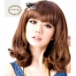 Curly Waves Medium Length Women Wig
