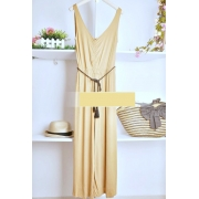 Wide Leg Design Pants Vintage Style Jumpsuit