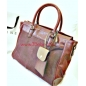Classic Leather Carry All Bag Messenger Handbag