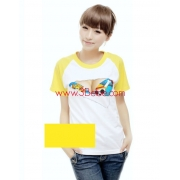 Novelty T-Shirt Fun Ripped Design Raglan Sleeve