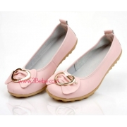 Genuine Leather Buckle Design Slip- Resistant Women Flat Shoes