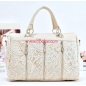 Vintage Leather and Lace Design Fashion Handbag