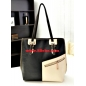Classic Color Block Design Fashion Handbag 3Bebe
