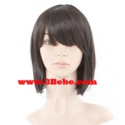 Synthetic Wig Short Straight Blk